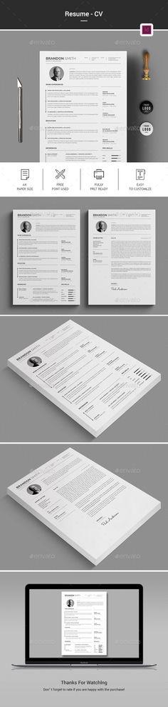 #Resume/CV - #Stationery Print Templates Download here: https://graphicriver.net/item/resumecv/20298671?ref=alena994