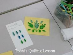 Quilling- leaves