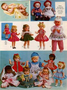 1965 ADVERTISEMENT 2 Page Horsman Dolls Thirstee Cry Baby Walker Effanbee Ruthie