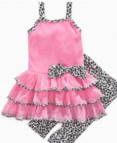 Kids Headquarters Baby Set, Baby Girls Tutu Dress and Animal-Print Leggings - Kids Baby Girl (0-24 months) - Macy's