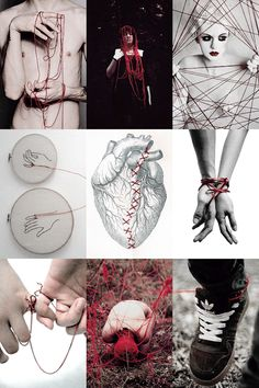 punkhowlett:  INSPO→  The Red String of Fate  The red string of fate, also referred to as the red thread of destiny, red thread of fate, and other variants, is an East Asian belief originating from Chinese legend and is also used in Japanese legend. According to this myth, the gods tie an invisible red string around the ankles of men and women who are destined to be soul mates and will one day marry each other. Often, in Japanese culture, it is thought to be tied around the little finger...