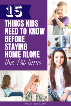 If you have older kids that are getting close to staying home by themselves, check out this list of 15 things your child needs to know before staying home alone, so they can be prepared for this HUGE step! #stayhomealone #parenting #childsafety #parentingtips Internet Safety Tips, Find A Babysitter, Family Safety, Home Alone, Christian Parenting, Kids Health, Happy Kids, Raising Kids, Kids House