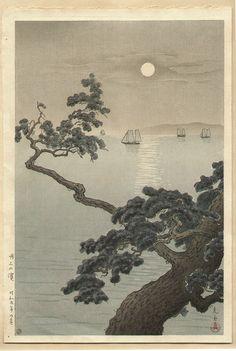 Tsuchiya Koitsu Title:Full Moon at Akashi Beach Date:1934
