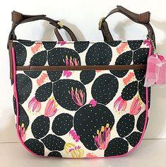 FOSSIL Mia Crossbody Shoulder Bag *NEW* Black White Pink Multi w/ Brown Trim NWT #Fossil #Crossbody