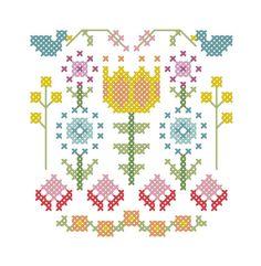 A Secret Garden cross stitch - DIY PATTERN