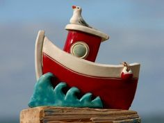 Jane James is an award winning artist who has become one of the best known ceramic designers in the Channel Islands. Ceramic Tools, Ceramic Clay, Ceramic Pottery, Pottery Art, Pottery Painting, Pottery Ideas, Polymer Clay Dolls, Polymer Clay Projects, Sailboat Art
