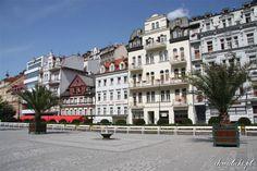 Karlovy Vary. Kamienice.