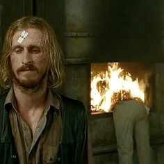 """Dwight (Austin Amelio) and half of Dr. Carson   Season 7:Episode 11- """"Hostiles and Calamities"""""""