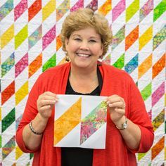 Jenny from Missouri Star Quilt Co, teaches another great HST quilt.