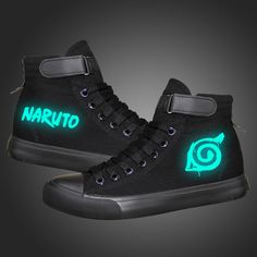 The Walking Dead High Top Lace Up Luminous Classic Shoes - 6 Prints Classic Sneakers, Black Sneakers, High Top Sneakers, Black Canvas Shoes, Black Shoes, Glow Shoes, Shoe Department, Shoe Size Conversion, Halloween Cosplay
