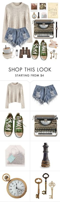 """Life Imitates Art"" by nyctophilia-wonderwall ❤ liked on Polyvore featuring Converse, Paper Source, Impossible Project, Cyan Design, Home Decorators Collection, Tim Holtz, poetry and LighthouseInTheStorm"