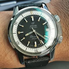 Dive!  #vintagediver #vintagewatch #enicarsherpa #enicarwatches #enicar #enicarultradive