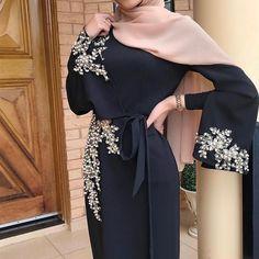 Mode Abaya, Mode Hijab, Classy Wear, Classy Dress, Islamic Fashion, Muslim Fashion, New Hijab, Long Sleeve Chiffon Dress, Abaya Dubai