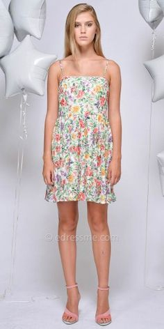 Milany All Over Floral Day Dress by Greylin #edressme