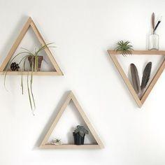 DIY Faça você mesmo Como Fazer Prateleiras Triangulares