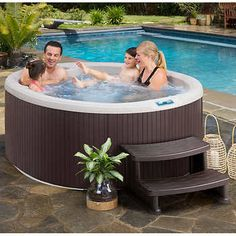 Aquaterra Spas Calavera Spa Cascading Waterfall & Ozone Water Care System Underwater Multi-color LED Light & Bottom Drain Pump Allows Jet Power Adjustment Plug-N-Play or Dimensions: L x W x H Saunas, Jacuzzi, Oval Pool, Tubs For Sale, Spa Items, Solar Water Heater, Spa Design