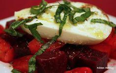 Roasted Beets & Burrata Salad (diced)