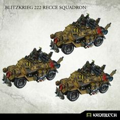 This set contains three Blitzkrieg 222 Assault Vehicles. This set is 10% cheaper than separate models x3