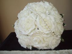 Poly foam roses and beads bouquet