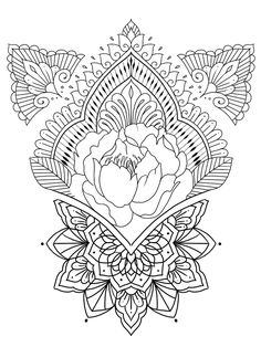 Discover recipes, home ideas, style inspiration and other ideas to try. Henna Mandala, Geometric Mandala, Mandala Art, Lace Tattoo Design, Mandala Tattoo Design, Tattoo Designs, Mandala Sketch, Mandala Drawing, Spine Tattoos