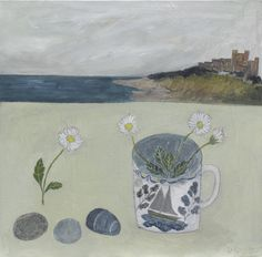 Debbie George.  Boat cup and Daisies. www.debbiegeorge.co.uk
