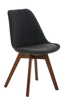 Chair-BORNEO-Walnut-Legs-Tweed-Seat-Conference-Dining-Waiting-Room-Wooden-Office