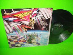 Triumph Just A Game 1979 Vinyl LP Record Hold On Heavy Metal Hard Rock Gatefold #HardRock #Triumph