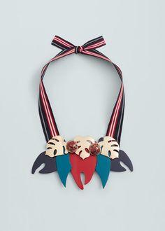 Collier pendentifs combinés   MANGO