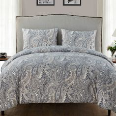 Found it at Wayfair - Palila 3 Piece Duvet Set. Size-full/queen. Color-grey