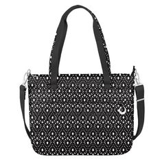 Show off these unique prints this spring with this spacious Boho tote bag! Featuring a locking main compartment that opens wide for full access, plenty of interior and exterior pockets for organization, padded pocket to hold a laptop up to 15.6 inches, add-a-bag strap convenient for traveling, slash-resistant carry handles, and a removable, adjustable shoulder strap.