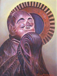 木喰仏の在るところ en Twitter:… Japanese Monk, Buddhist Art, Buddhism, Sculpture, Twitter, Painting, Design, Painting Art, Sculptures