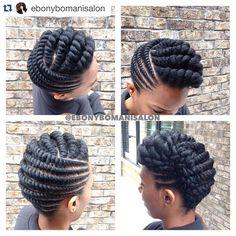 #Repost @ebonybomanisalon ・・・ #ProtectiveStyle #TwoStrandTwistUpdo #themanechoice