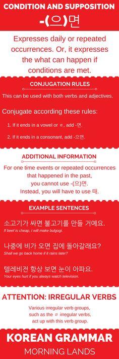 -(으)면 is a basic Korean grammar topic that you best know. It is similar to the English zero and first conditional. It will help you express a lot of things. #LearnKorean #Korean #한국어