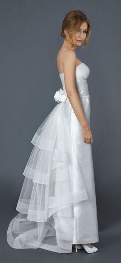 Blondie - Abito da Sposa Scivolato - Vestito da Sposa in Tulle e Seta   Atelier Eme