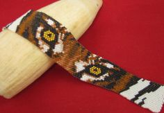 Golden Eye Bracelet Beading Pattern by Beadbrickie AKA Mareta Pascoe at Bead-Patterns.com! Lots of individual bead weaving patterns for sale, some are FREE from various designers are available!