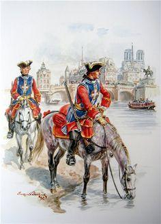 Mousquetaires 1750 Eugene Leliepvre