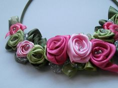 Custom Order - Satin Roses Necklace