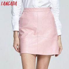 Cheap women laptop tote bags, Buy Quality women in business skirts directly from China women red leather pants Suppliers: Tangada 2017 Women Faux Leather Mini Skirt Short Pink High Waist Straight Skirts For Female Summer Sexy Zipper Korean Fashion Red Leather Pants, Leather Mini Skirts, A Line Skirts, Short Skirts, Straight Skirt, Korean Fashion, Cute Outfits, Clothes For Women, Womens Fashion