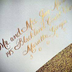 Recent Calligraphy: Wedding Monogram and Gold Ink Calligraphy | Calligraphy by Jennifer