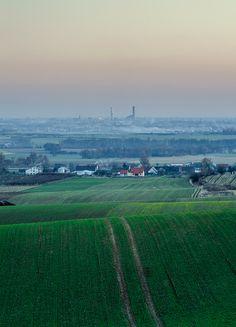 Far far away... (color ver.) #panorama #view #fields #city #poland #skytower