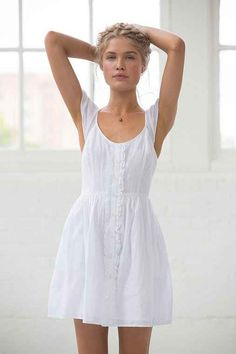 Band Of Gypsies Flutter-Sleeve Button-Down Dress - Urban Outfitters