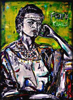 Frida Kalo Portrait by J. Ruiz