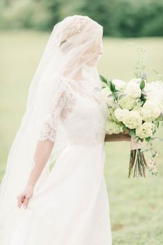 #ethereal #elegant #veil - Winery Wedding Inspiration Elizabeth Fogarty | photography by http://elizabethfogartyphotography.com/