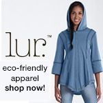 Lur apparel. 1. It is 100% recycled from clothing scraps and recycled bottles. 2. It is in the US so not much fuel is needed to transport the products. 3. Since it is made with recycled products it doesn't create waste 4.They donate funds to nonprofit organizations that help women with their careers.