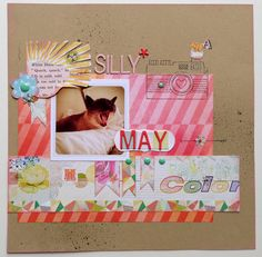 tammy inman/ tammy i blog Created this layout using only the Neverland Studio Calico Scrapbooking main kit.