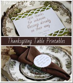 Thanksgiving Table Printable and Tutorial