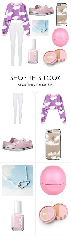 """Clouds"" by chooseyourstyle321 on Polyvore featuring Frame Denim, WithChic, Converse, Casetify, River Island, Essie, jane, women's clothing, women and female"