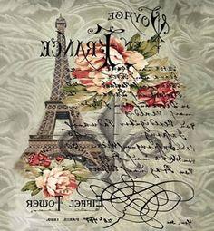 Rice Paper for Decoupage Scrapbook Craft Sheet - Vintage Tour Eiffel Decoupage Vintage, Decoupage Paper, Vintage Diy, Vintage Labels, Printable Vintage, Images Vintage, Vintage Pictures, Illustration Paris, Foto Transfer