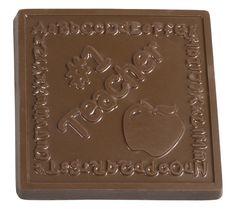 #1 Teacher Chocolate Bar. Available in milk, dark and white chocolate.