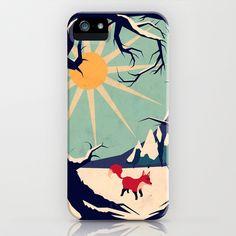 Fox+roaming+around+II+iPhone+&+iPod+Case+by+Yetiland+-+$35.00